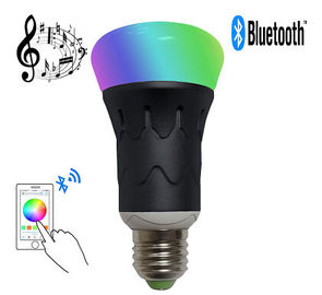 Cina MR RGBW LED Bluetooth Speaker Bulb dimmable warna-warni Warna Mengubah pemasok